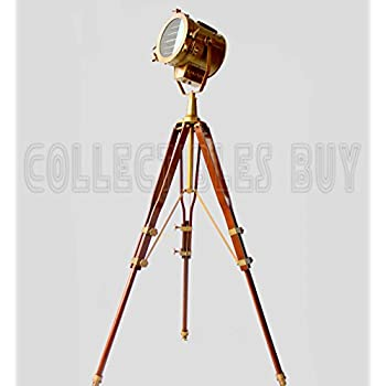 Vintage Old Century Morden Searchlight Nautical Lamp Timber Tripod ...