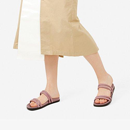 Rosa UK5 YQQ Singole Estivi Donna Scarpe Ragazza Sandali Da dimensioni EU38 Fondo Moda 5 Alti Scarpe Colore Femminili Confortevole Scarpe Rosa Signora Tacchi Spesso 11qr8Ag