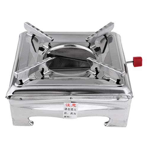 Baosity Outdoor Portable Stainless Steel Camping Cooking Spirit Burner Alcohol Stove