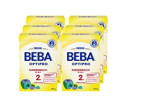 Beba Pro 2 + niños leche, 6 x 600 g (6x2x300g)