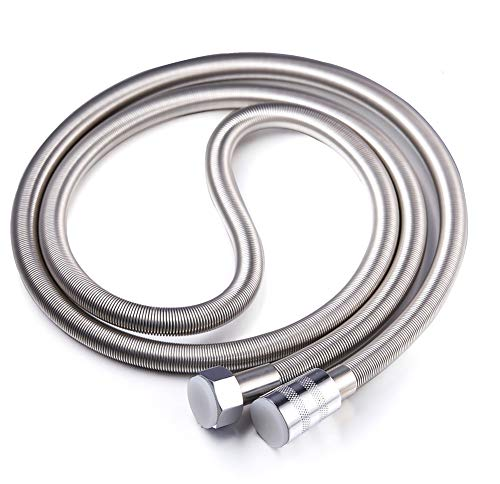 Artbath Stainless Steel Shower Hose Extra Long 79 Inch Length Flexible Chrome Hose Replacement for Bathroom Hand Shower Head (6.5 (Flexible Shower Hose)