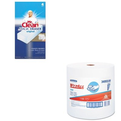 KITKIM34955PAG82027 - Value Kit - WypAll X60 Teri Reinforced Jumbo Roll Wipes (KIM34955) and Mr. Clean Magic Eraser Foam Pad (PAG82027)