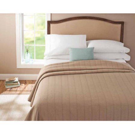 Better Homes and Gardens Egyptian Cotton Blanket, Twin, Clay Beige