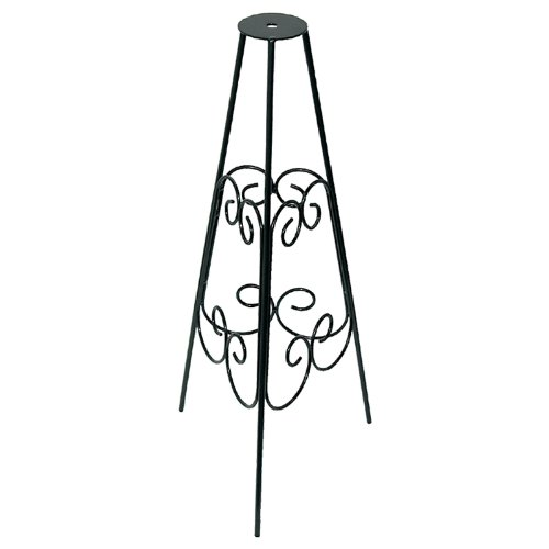 Rome B53-1 Scrolled Sundial Pedestal Bases, Powder Coated Black Wrought Iron, 24-Inch Height (Stand Sundial)