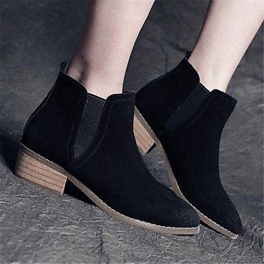 Las mujeres sandalias de verano PU Confort Casual talón plano Negro Oro Blanco. Black