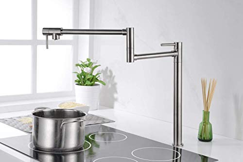 Sumerain Pot Filler Deck Mount,Brushed Nickel Finish with Extension Shank and 20