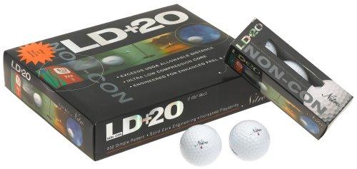 Nitro LD+20 12-Pack Non-Conforming Golf Balls (Best Golf Ball For Slice)