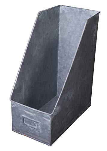 Rustic Galvinized Metal Magazine Rack - File Holder - 12