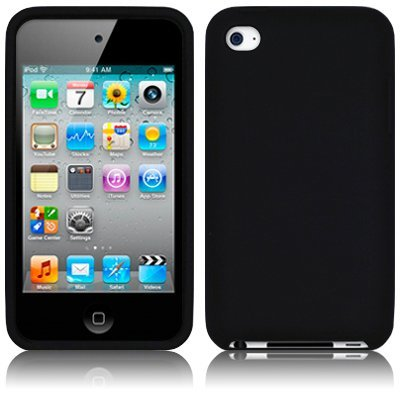 APPLE IPOD TOUCH 4TH GENERATION SOFT SILICONE SKIN CASE - BLACK [Electronics] - Ipod Touch Premium Silicone