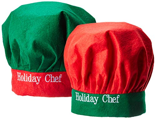 Chef Hat for Adult Baker Kitchen Cook Cap Unisex Christmas Outfit 2 Pack
