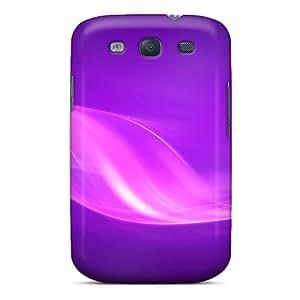 Galaxy S3 Tmd6126fTWO Purple Swirls Tpu Silicone Gel Case Cover. Fits Galaxy S3