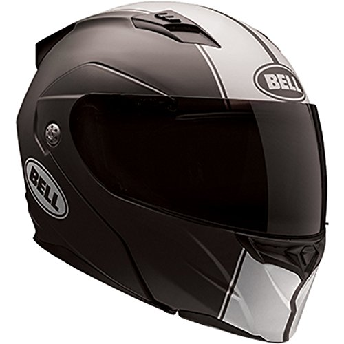 Bell Rally Adult Revolver Evo Street Motorcycle Helmet - Matte Black/White/X-Large