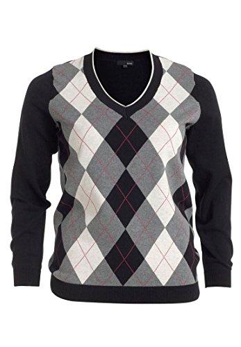 Argyle Cardigan Sweater - 2