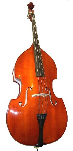 GRACE 3/4 Size Student Natural Upright Double Bass with Bag,Bow,Bridge+Free Rosin