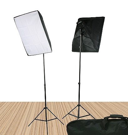 Video Lighting Kit Photo Studio Kit 2000 Watt Continuous Portrait studio lighting kit with Carrying Case - 2 light stands, 2 softboxes, 2 Light Heads w/5 bulbs, 10 photo bulbs by Fancierstudio UL9026S by Fancierstudio