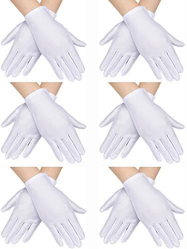 Jack In The Box Halloween Costume Head (SATINIOR 6 Pairs Child Costume Gloves Spandex Gloves Dress-up Gloves for Kids Halloween Costume Accessories)