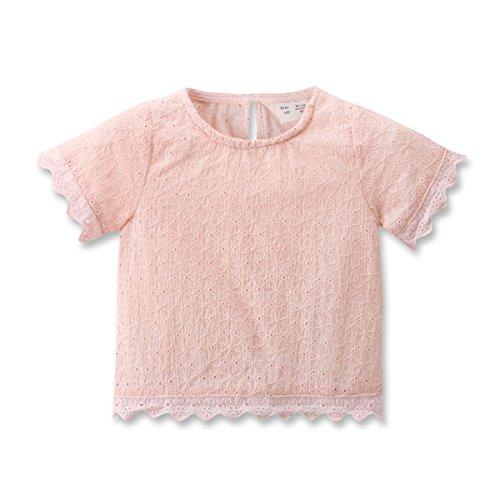 Baby Girls Tshirt Kids / Toddler Girls Bottoming Shirt Children Blouses Tees (80(9-12Month), pink)