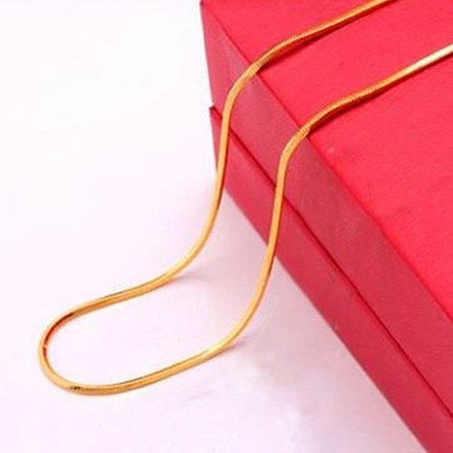 856store Novelty 16-30 inch Snake Chain Lobster Clasp Clavicle Necklace Jewelry for Pendant - Gold 30 in