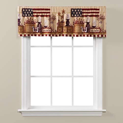 SKL Home by Saturday Knight Ltd. Bless Our Home Valance, Multicolored, 56 inches x 13 inches