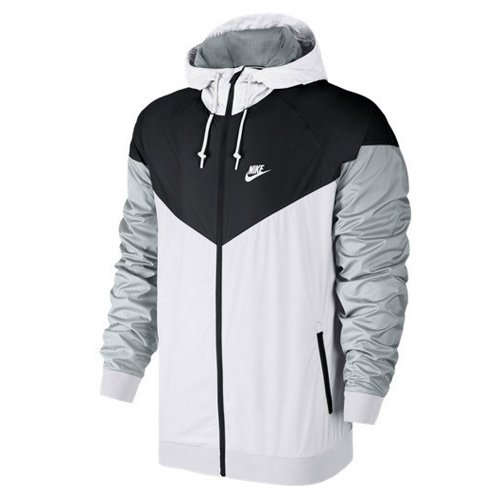 [727324-101] NIKE NIKE WINDRUNNER JACKET APPAREL JACKETS NIKEWHITE BLACK GREY