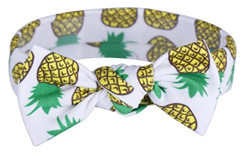 Baby Girls Toddler Infant Newborn Rabbit Ear Headband Multicolor Hair Hoops Hair bands (pineapple)