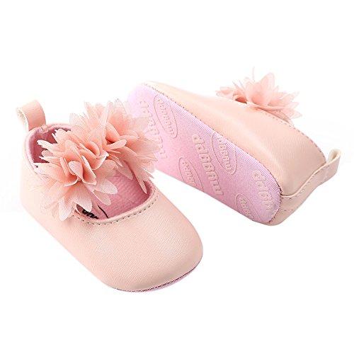 0979cb7080cde Minuya Chaussures Bébé Fille Cuir Souple Antidérapant Fleur Princesse  Chaussures Mary Jane ...