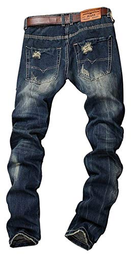 Pantaloni Leg Colour 928 Used Uomo Jeans Giovane Destroyed Cracks Slim Straight Biker Chino Da Fit tTnqZ