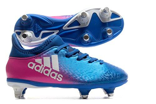 adidas X 16.3 SG J - Botas de fútbolpara niños, Azul - (AZUL/FTWBLA/ROSIMP), 34