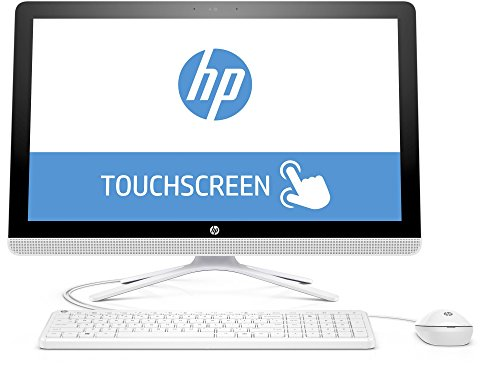HP 24-g050ng (X0Y31EA) 60,45 cm (23,8 Zoll / FHD IPS Touchscreen) All in One Desktop PC (Intel Core i5-6200U, 8 GB RAM, 1 TB SSHD, Intel HD-Grafikkarte 520, Windows 10 Home 64), Weiß