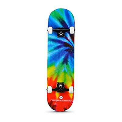 Aniseed Beginner Street Skateboard Tie-dye Skateboards Cruiser 31 Inch : Sports & Outdoors