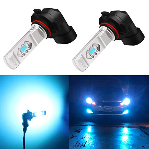 Alla Lighting 3600lm Xtreme Super Bright H10 9145 LED Bulbs 9145 Fog Light High Illumination ETI 56-SMD LED 9145 Bulb 9140 9045 9145 H10 Fog Lights Lamp Replacement - 8000K Ice Blue