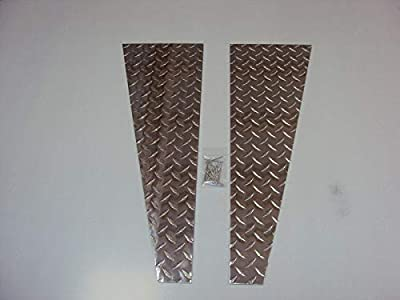 Details about 1987 to 1995 JEEP YJ WRANGLER FENDER TOP COVERS Diamond Plate WOW!!!
