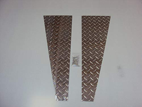 (Details about 1987 to 1995 JEEP YJ WRANGLER FENDER TOP COVERS Diamond Plate WOW!!! )