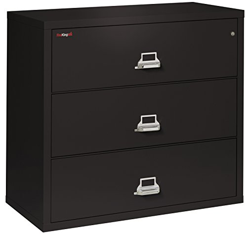 - FireKing Fireproof Lateral File Cabinet (3 Drawers, Impact Resistant, Waterproof), 40.25