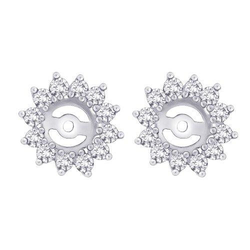 Diamond Floral Earring Jackets