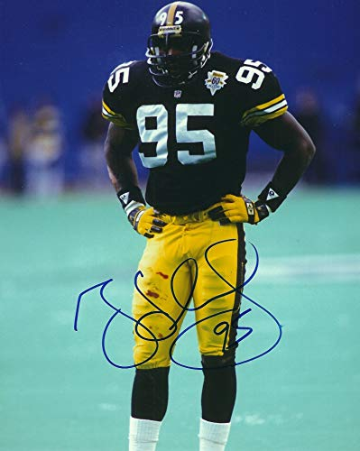 Autographed Greg Lloyd Pittsburgh Steelers 8x10 Photo with COA