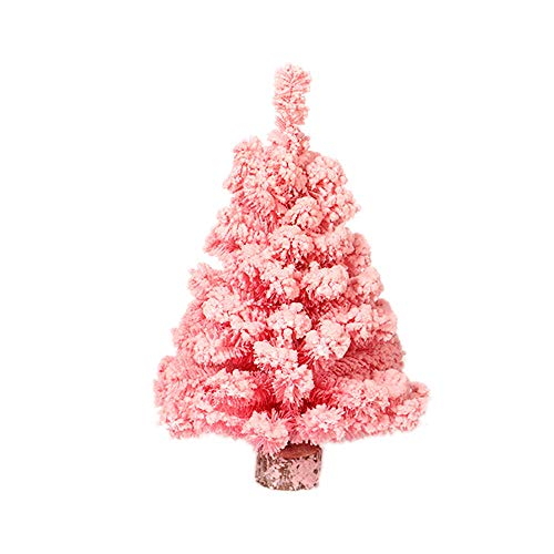 Xmas Tree, Artificial Tabletop Mini Christmas Tree Decorations Festival Miniature Pink Xmas Tree 30cm -