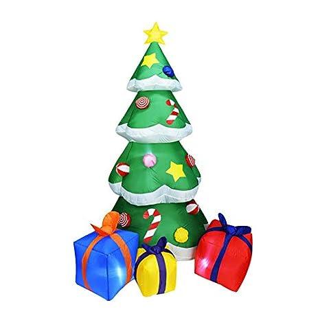 Heetey - Muñeco de nieve hinchable para decoración navideña al ...