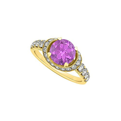 Amazingly Crafted Amethyst and CZ Ring 1.75 TGW