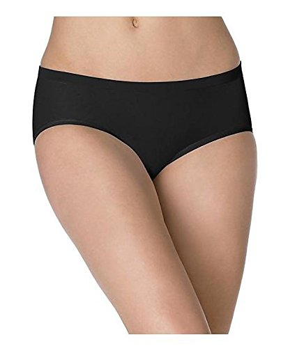 Barely There Underwear - Barely There Women's Flawless Fit Microfiber Hipster Panties,Black,7 US
