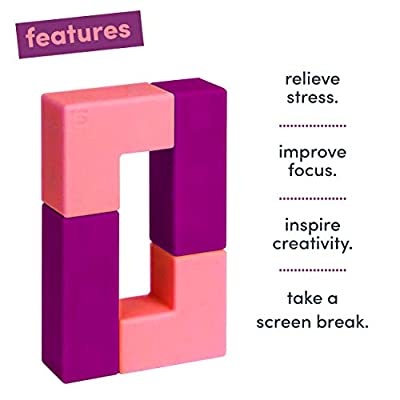 Speks Unblocks Purple/Pink Set of 4 Unbelievably Magnetic Stress Relief Blocks for Kids and Adults: Toys & Games