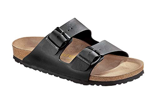 Birkenstock Unisex Arizona Soft Footbed Suede Sandals, Black - 41 N EU / 10-10.5 2A(N) US