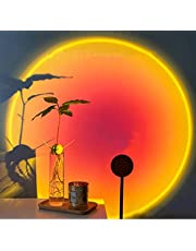 Floor lamp Projection floor lamp ,eternal sunset projector simulator floor sun lamp,Romantic visual ambient light with red light for web photography,Romantic Visual Mood Lighting Lamp,Sunset Projection Lamp Led Light 360 Degree Rotation,for Living Room Bedroom Decor (Sunset Red)