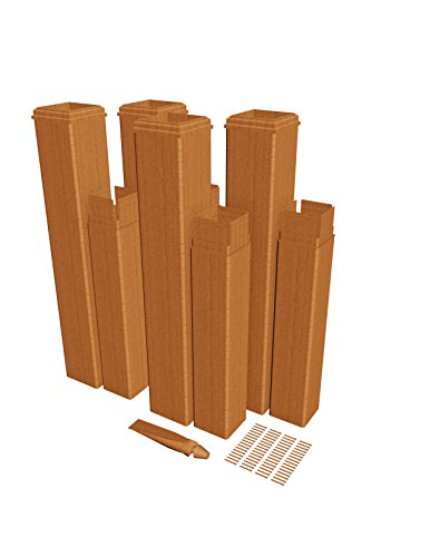 New England Arbors VA84350 Pergola Extension kit, Brown