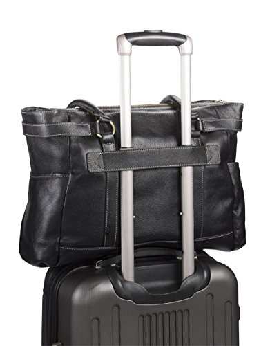 Hawthorne Leather Laptop Handbag 17.3'' (Navy Blue) by Clark & Mayfield (Image #2)