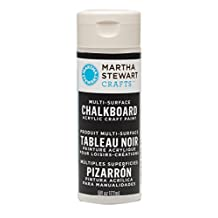 Martha Stewart Crafts Chalkboard Paint in Assorted Colors (6-Ounce), 32217 Black