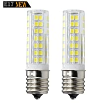 New e17 bulb, Dimmable E17 LED (88SMD) 7W White , 120v 75w Equivalent, Microwave Appliance Compatible Bulb (Pack of 2)