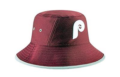 Authentic, NWT, MLB Philadelphia Phillies Classic Cooperstown Bucket Hat Dark Maroon