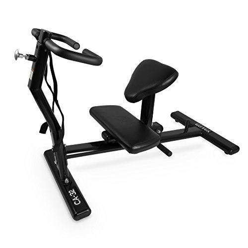 Valor Fitness CA-32 Back Stretch Machine with Adjustable Grip Handles and Safety Wrist Wraps - Improves Mobility and Reduces Muscle Pain and Soreness ()