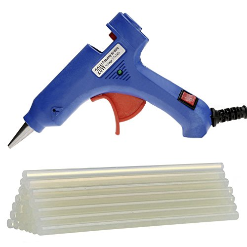 Price comparison product image 20-Watt Mini Hot Melt Glue Gun with 25pcs Glue Sticks for DIY Small Craft Projects and Quick Repairs